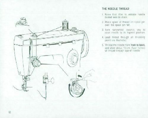 SINGER 258 Sewing Machine Instruction Manual