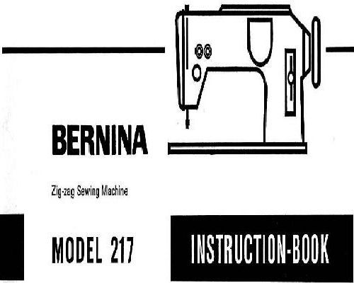 Bernina Sewing Machine Instruction Manuals
