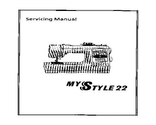 Janome My Style 22 Sewing Machine Servicing Instructions