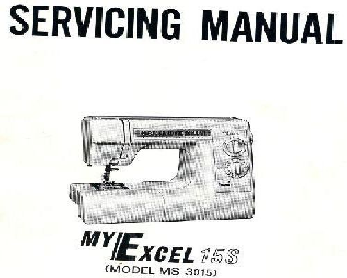 New Home Janome Sewing Machine Service Instructions