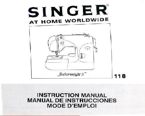 Singer Sewing Machine Instruction Manuals