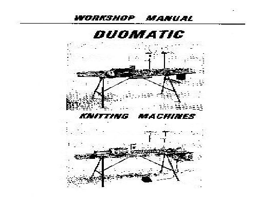 Knitting Machine Workshop Manuals