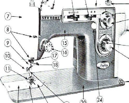 New Home Janome 446 Sewing Machine Instructions