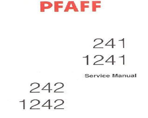 Pfaff Industrial Sewing Machine Service Instructions