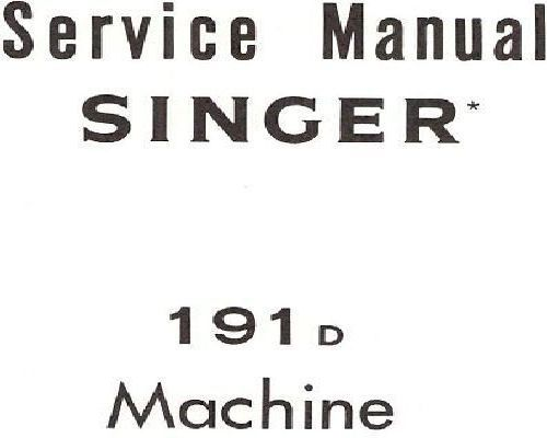 Singer Industrial Service Sewing Machine Instructions