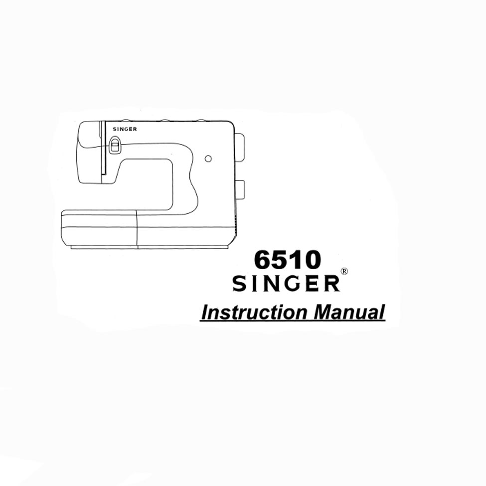 Instruction Manual, Singer 6510 : Sewing Parts Online