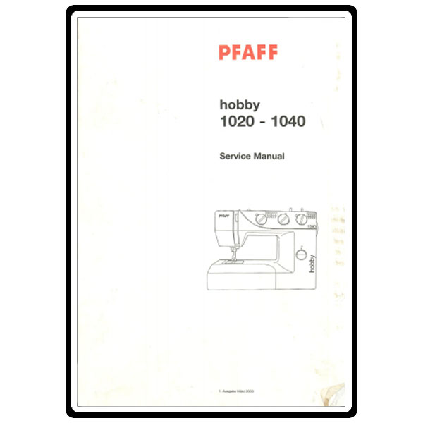 Service Manual, Pfaff 1030 : Sewing Parts Online