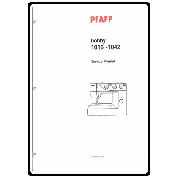 Service Manual, Pfaff 1042 : Sewing Parts Online