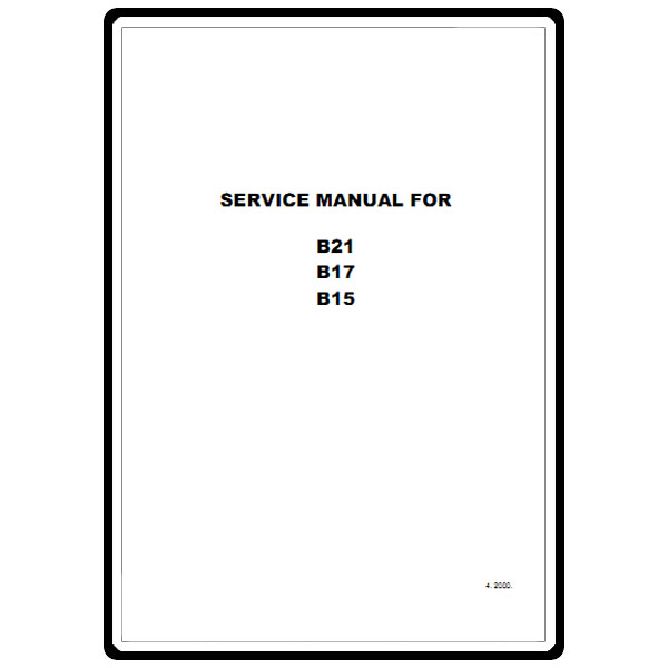 Service Manual, Babylock B21 : Sewing Parts Online
