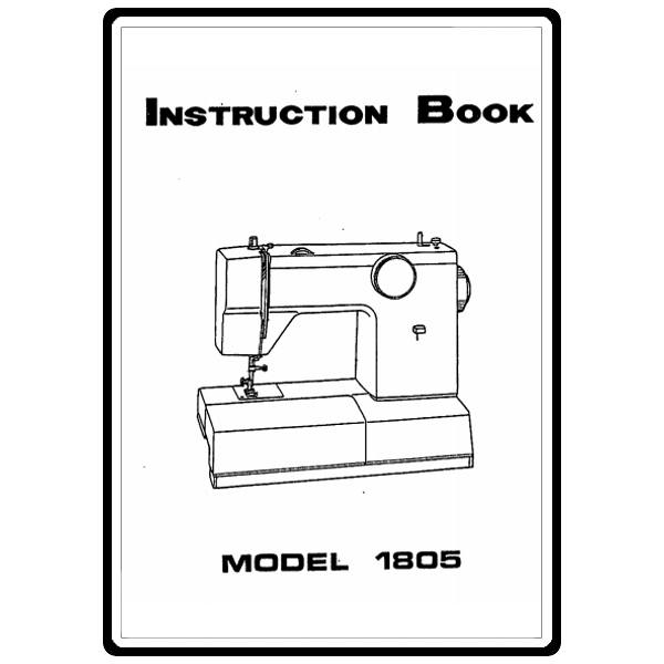 Instruction Manual, White 1805 : Sewing Parts Online