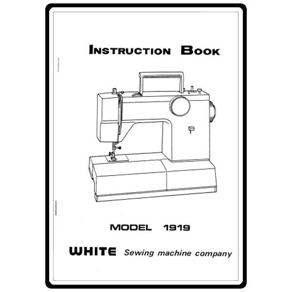 Instruction Manual, White 1919 : Sewing Parts Online