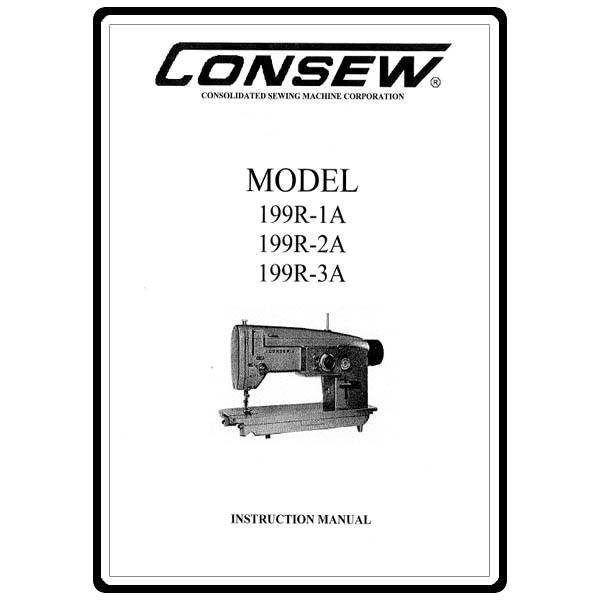 Instruction Manual, Consew 199R-1A : Sewing Parts Online