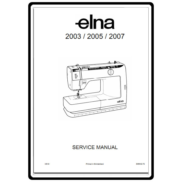 Service Manual, Elna 2005 : Sewing Parts Online