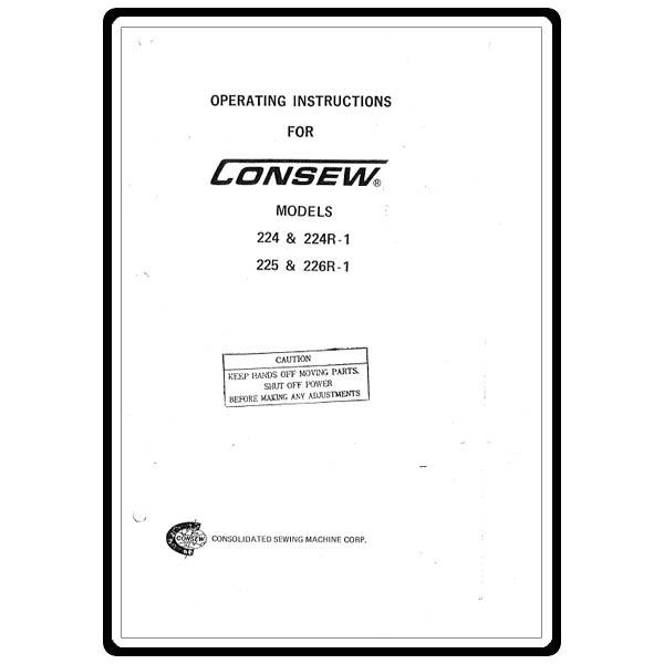 Instruction Manual, Consew 226R-1 : Sewing Parts Online