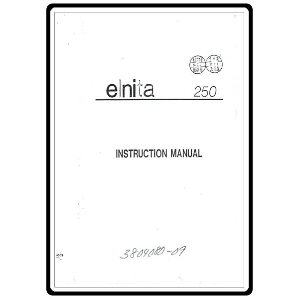 Instruction Manual, Elna 250 : Sewing Parts Online