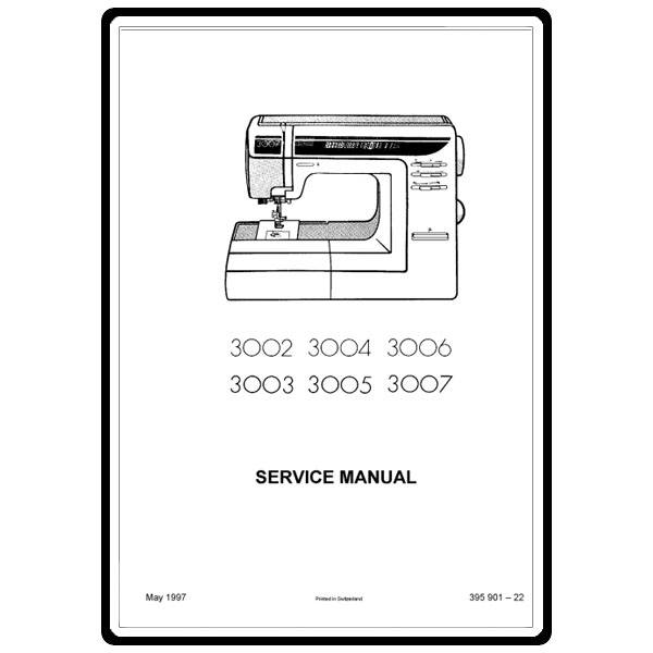 Service Manual, Elna 3005 : Sewing Parts Online