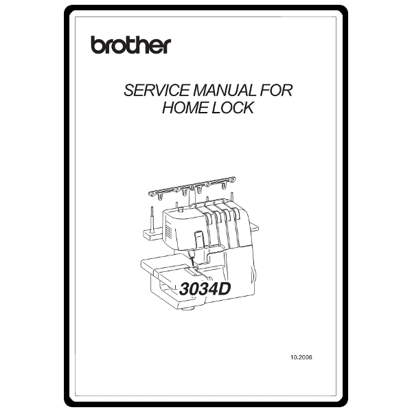Service Manual, Brother 3034D : Sewing Parts Online