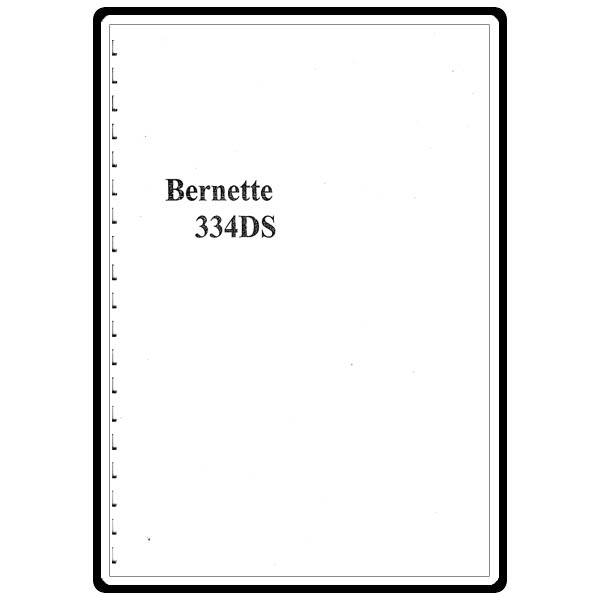 Instruction Manual, Bernette 334DS : Sewing Parts Online