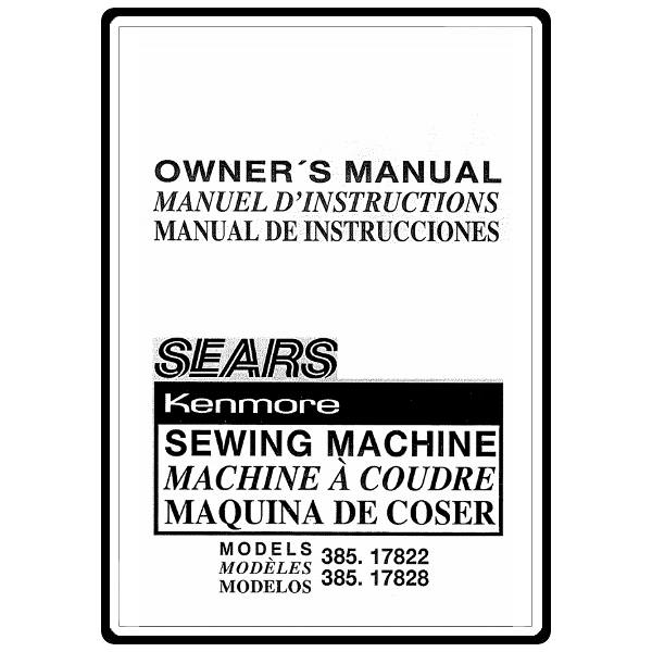 Instruction Manual, Kenmore 385.17822490 : Sewing Parts Online