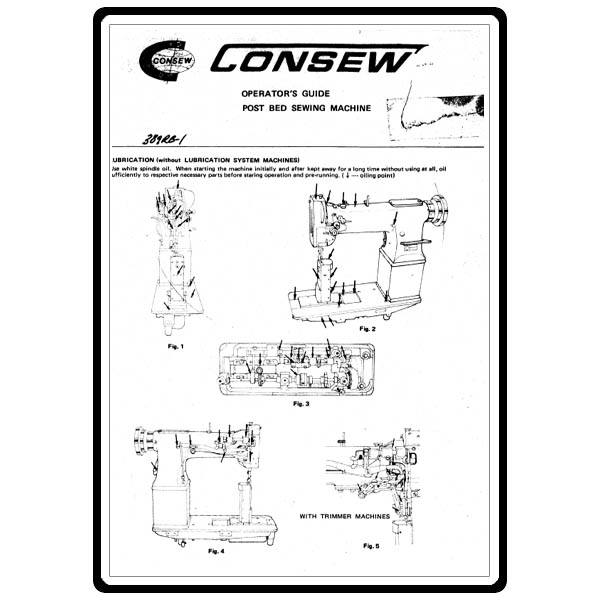 Instruction Manual, Consew 389RB : Sewing Parts Online