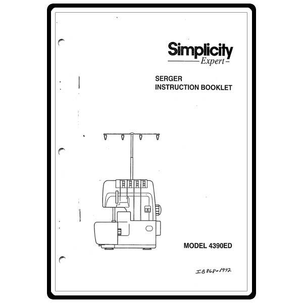 Instruction Manual, Simplicity SL4390ED : Sewing Parts Online