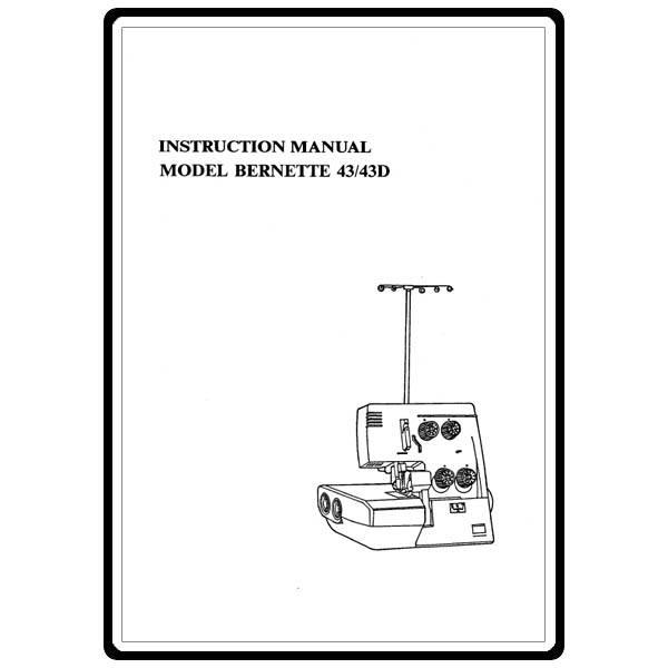 Instruction Manual, Bernina (Bernette) 43D : Sewing Parts