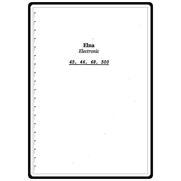 Instruction Manual, Elna Jubilee Electronic 45 : Sewing
