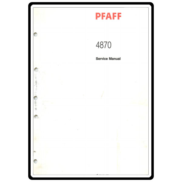 Service Manual, Pfaff 4860 : Sewing Parts Online