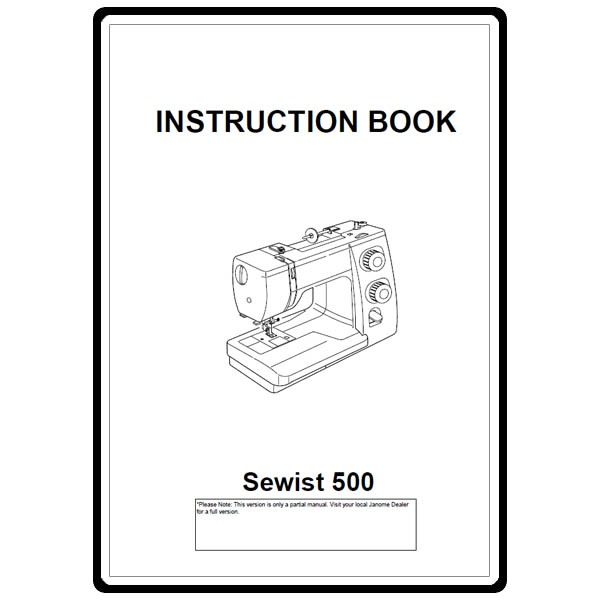 Instruction Manual, Janome 500: Sewing Parts Online
