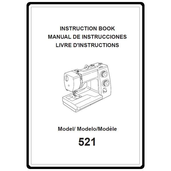 Instruction Manual, Janome 521 : Sewing Parts Online