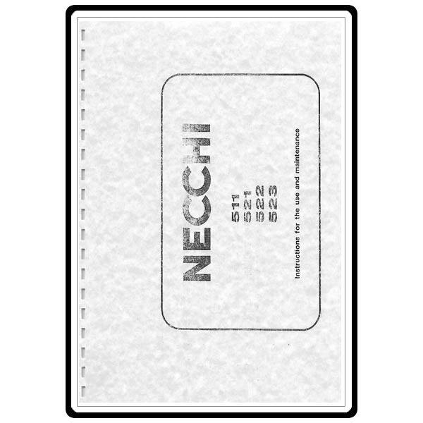 Instruction Manual, Necchi 522 : Sewing Parts Online