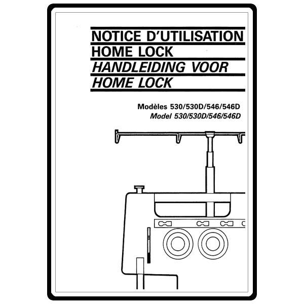 Instruction Manual, Brother Homelock 530D : Sewing Parts