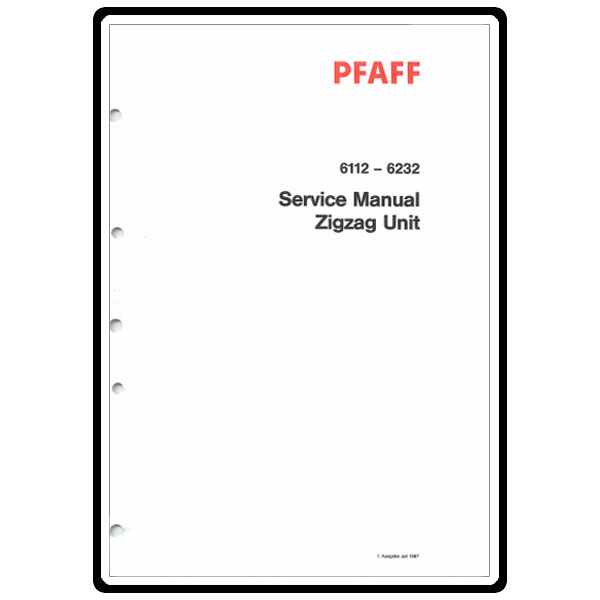 Service Manual, Pfaff 6112 : Sewing Parts Online