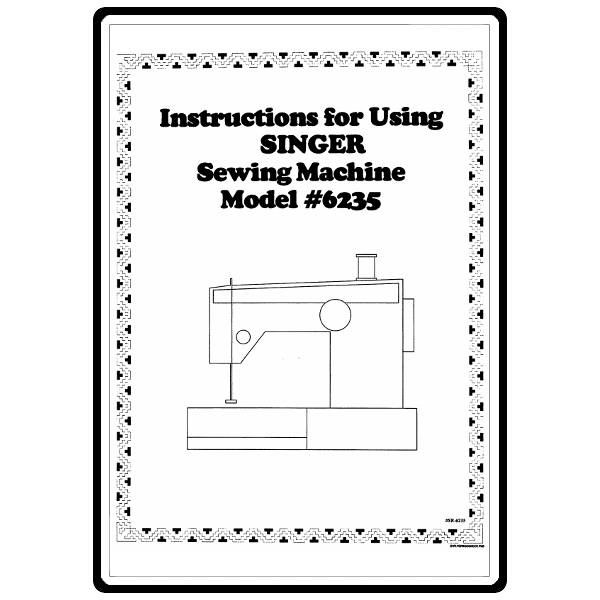 Instruction Manual, Singer 6235 : Sewing Parts Online