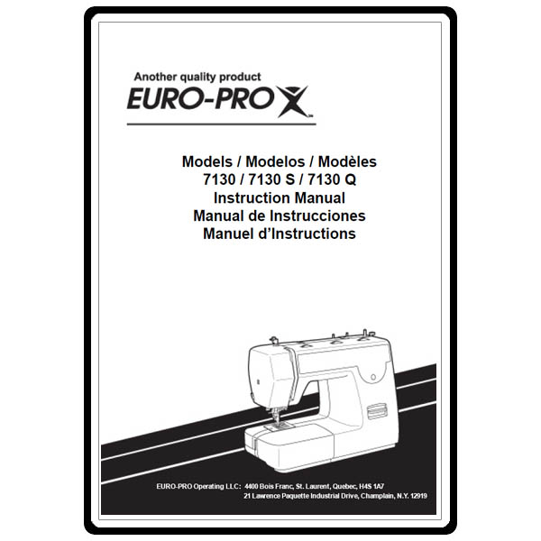 Instruction Manual, Euro Pro 7130 : Sewing Parts Online