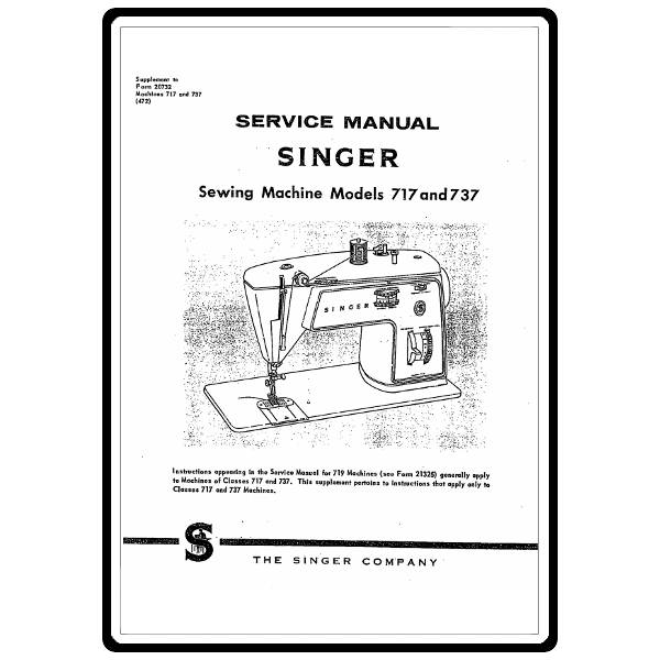 Service Manual, Singer 717 : Sewing Parts Online