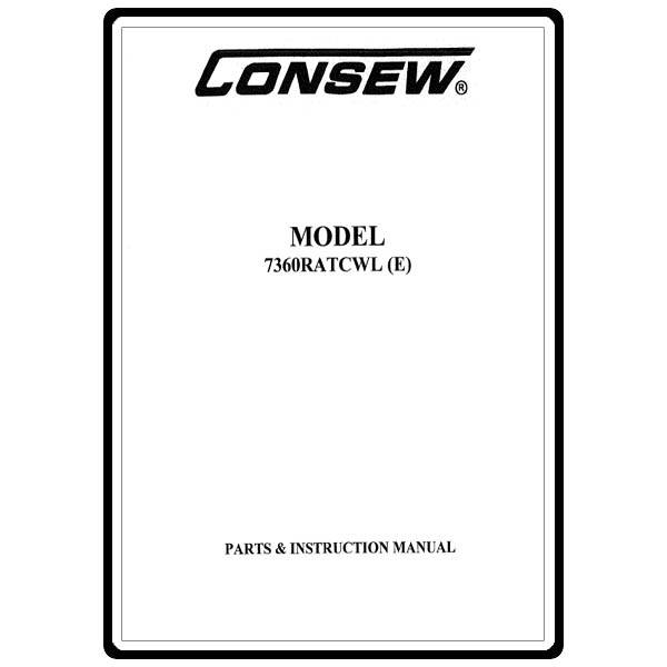 Instruction Manual, Consew 7360RATCWL (E) : Sewing Parts
