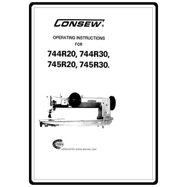 Instruction Manual, Consew 744R30 : Sewing Parts Online