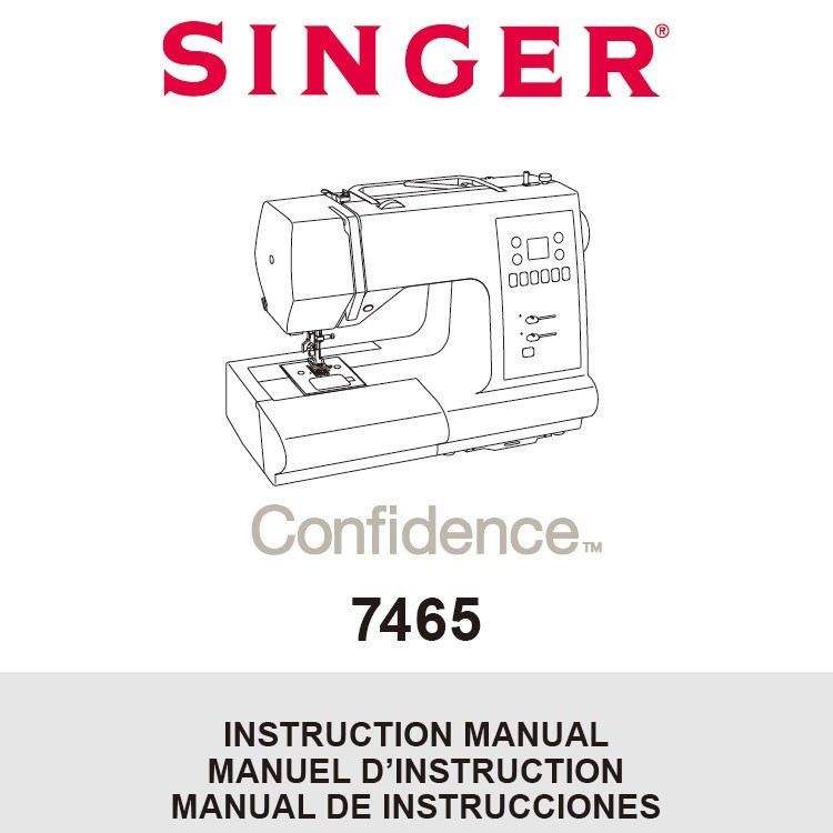 Instruction Manual, Singer 7465 Confidence : Sewing Parts
