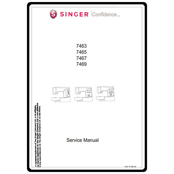 Service Manual, Singer 7469 Confidence : Sewing Parts Online