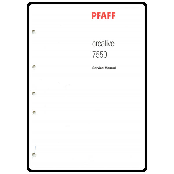 Service Manual, Pfaff 7550 : Sewing Parts Online