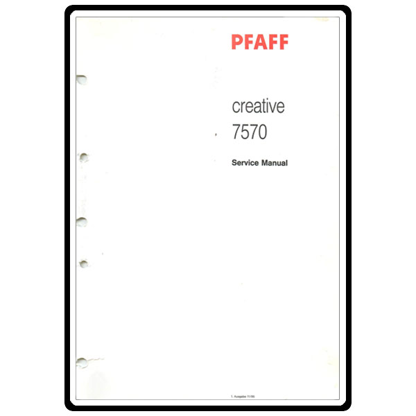 Service Manual, Pfaff 7570 : Sewing Parts Online