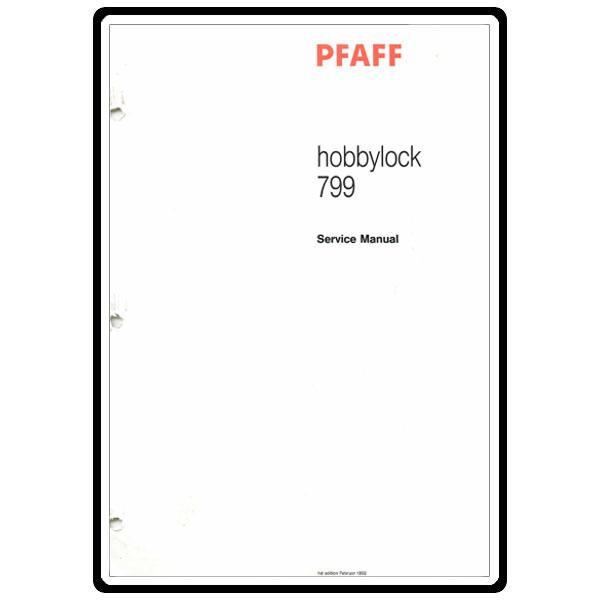 Service Manual, Pfaff 799 : Sewing Parts Online