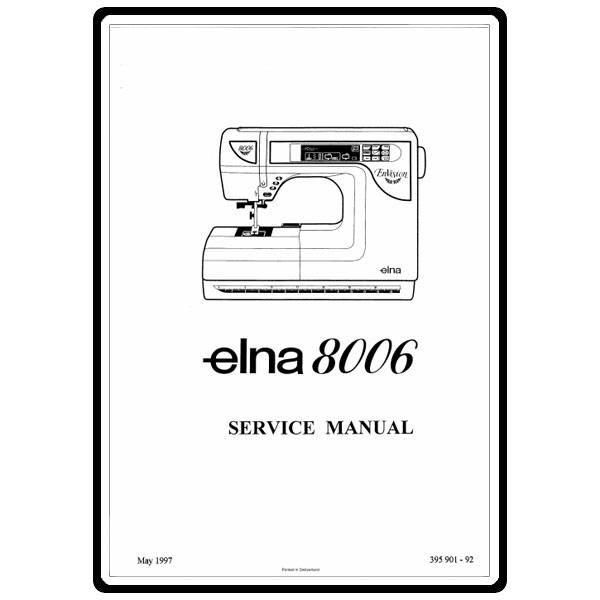 Service Manual, Elna 8006 EnVision : Sewing Parts Online