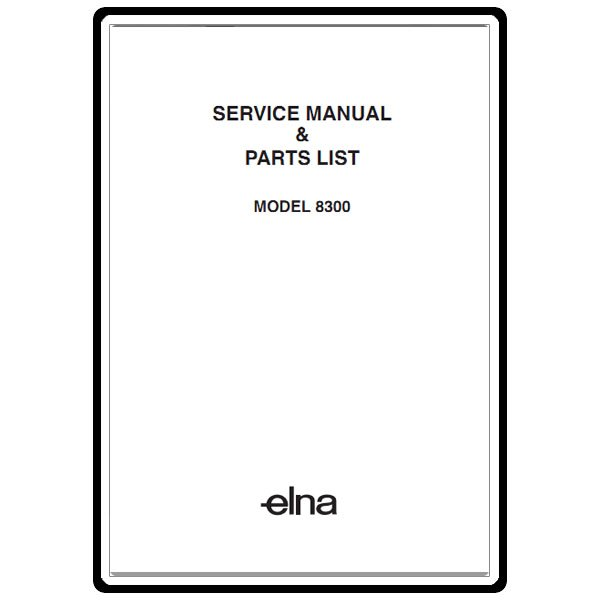 Service Manual, Elna 8300 : Sewing Parts Online