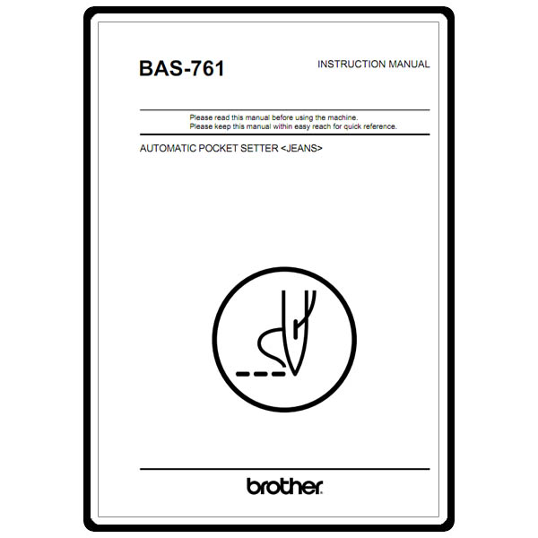 Instruction Manual, Brother BAS-761 : Sewing Parts Online