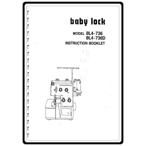Instruction Manual, Babylock BL4-736D : Sewing Parts Online