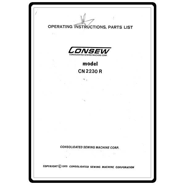 Instruction Manual, Consew CN2230-R : Sewing Parts Online