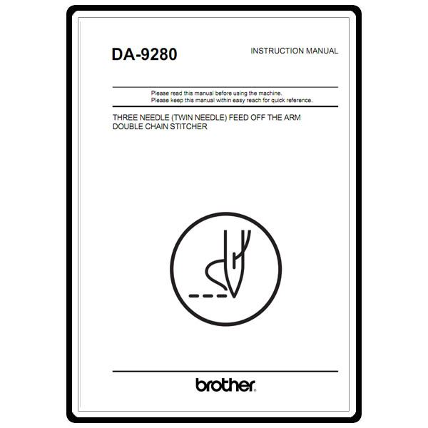 Instruction Manual, Brother DA-9280 : Sewing Parts Online