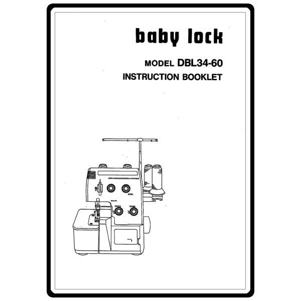Instruction Manual, Babylock DBL34-60 : Sewing Parts Online